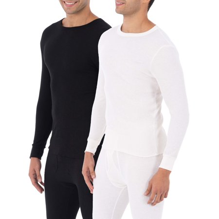 Fruit of the loom SUPER VALUE 2 Pack Men's & Big Men's Waffle Thermal Underwear Crew