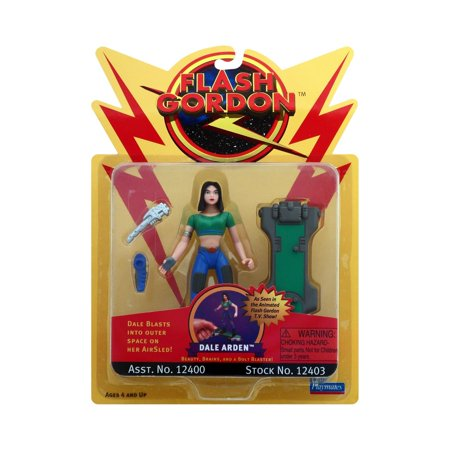 Flash Gordon - Dale Arden Action Figure, Dale pilots the Rocket Rolling AirSled against the forces of Ming the Merciless! By Playmates Toys Inc Ship from US
