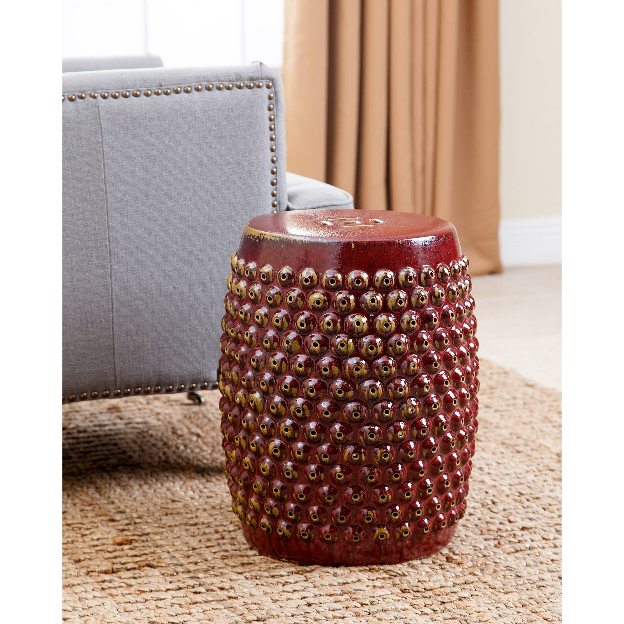 Devon and Claire Bixby Ceramic Garden Stool, Multiple Colors
