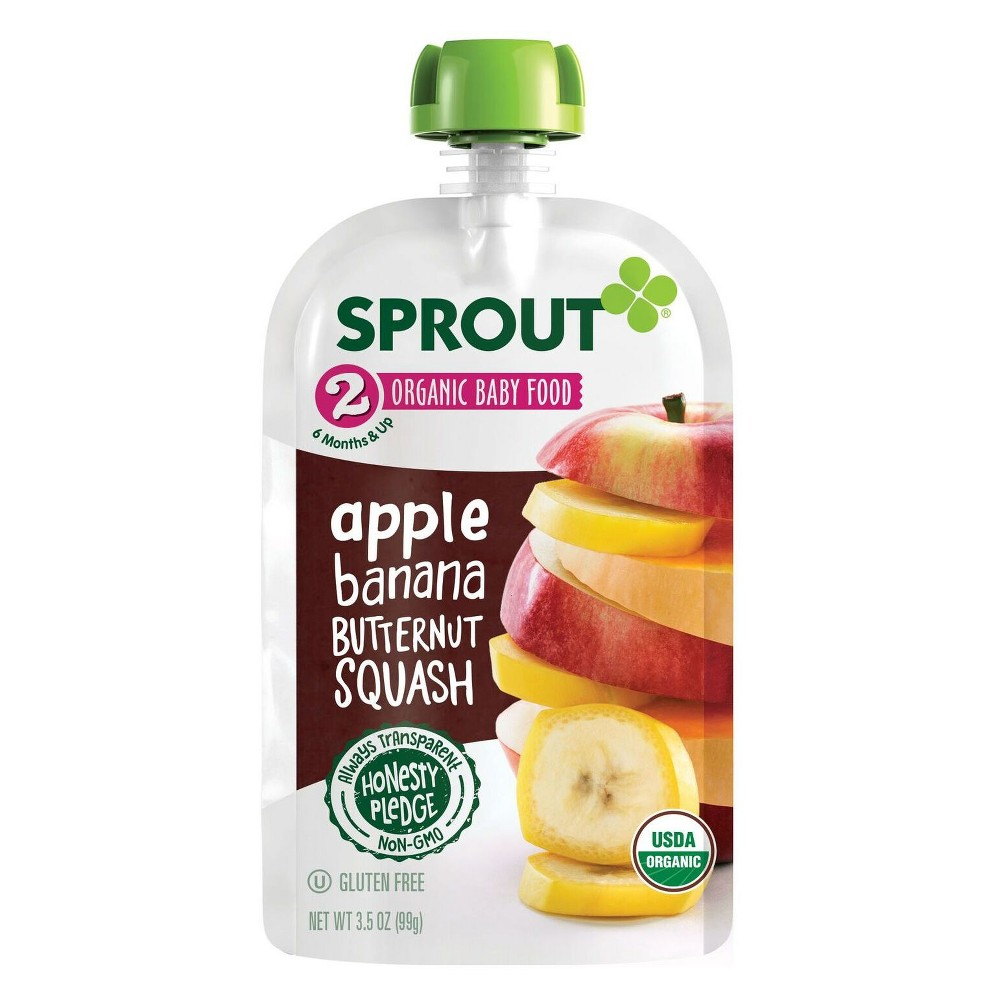 Sprout Organic Baby Food Apple Banana Butternut Squash - 3.5oz (Pack of 12)