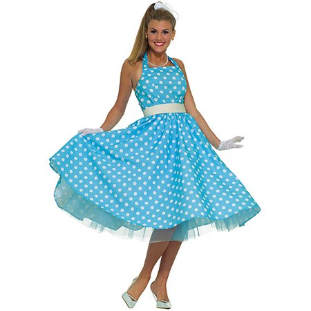 Summer Daze 50's Adult Halloween Dress Costume - One Size