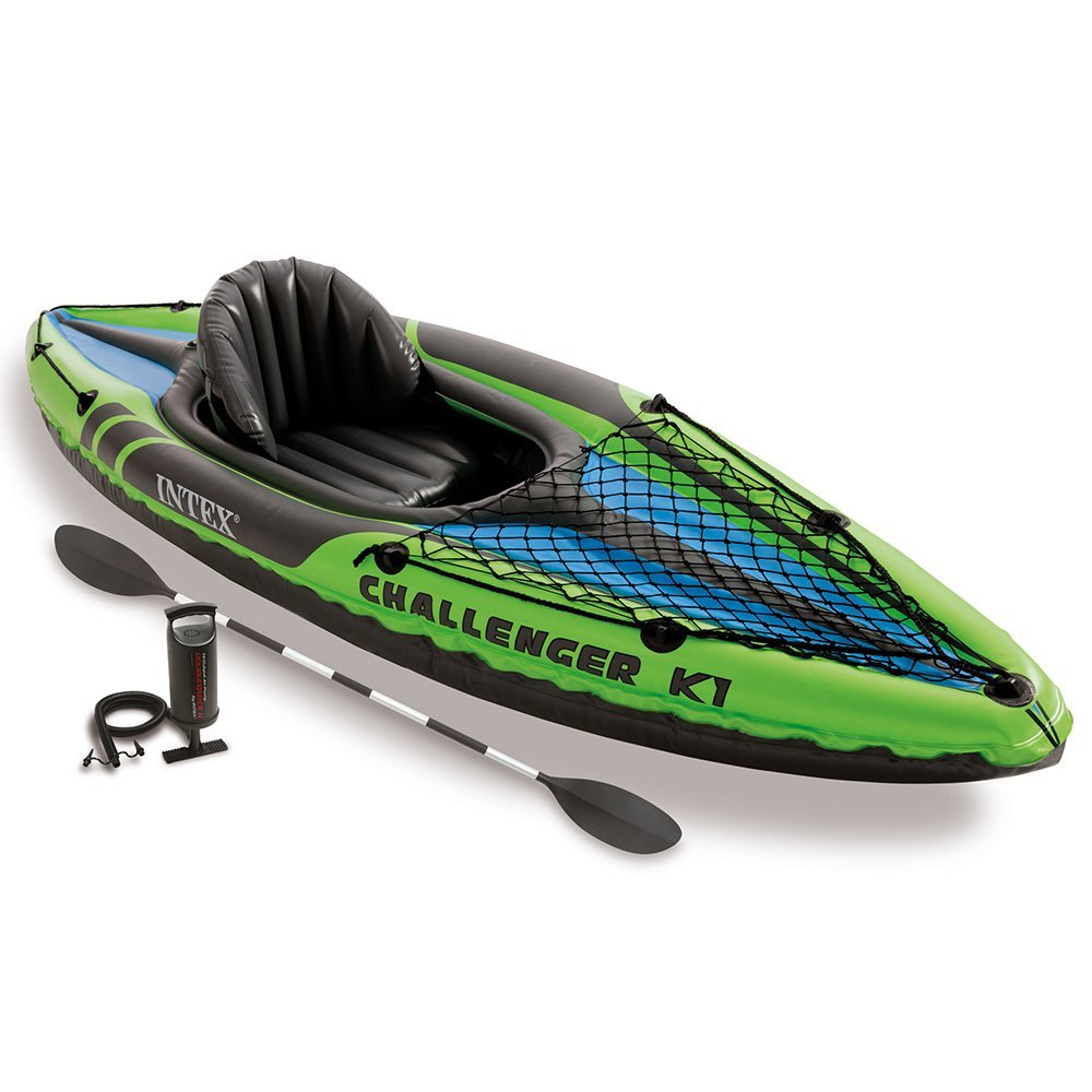 Intex Challenger K1 Kayak, 1-Person Inflatable Kayak Set with Aluminum Oars a... by Intex