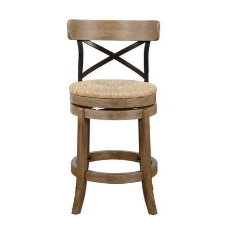 Excellent Boraam Myrtle 24 Metal Back Counter Height Stool In Wire Brush Machost Co Dining Chair Design Ideas Machostcouk