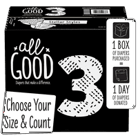 All Good Absorbent and Hypoallergenic Diapers (Choose Size & Count)