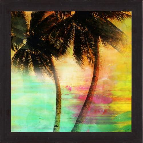 PTM Images Sunset Palms II Framed Graphic Art