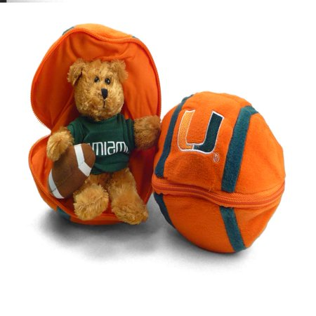 Miami Hurricanes Stuffed Bear in a Ball - Football - Cool Football Stuff