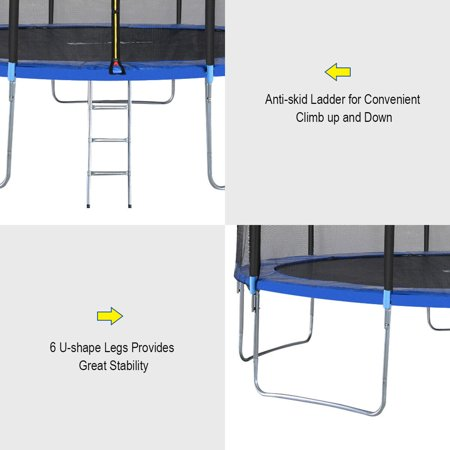 15FT Trampoline Combo Bounce Jump Safety Enclosure Net W/Spring Pad Ladder - image 3 of 10