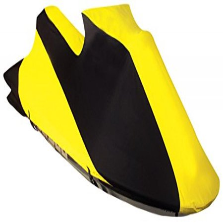 Leader Accessories Jet Ski Pwc Cover 600D Sd Polyester Trailerable Personal Watercraft Cover Contour Fits Seadoo  Xp 1993 96 Xp 800 1993 96 Spx 1997 99  Black Yellow