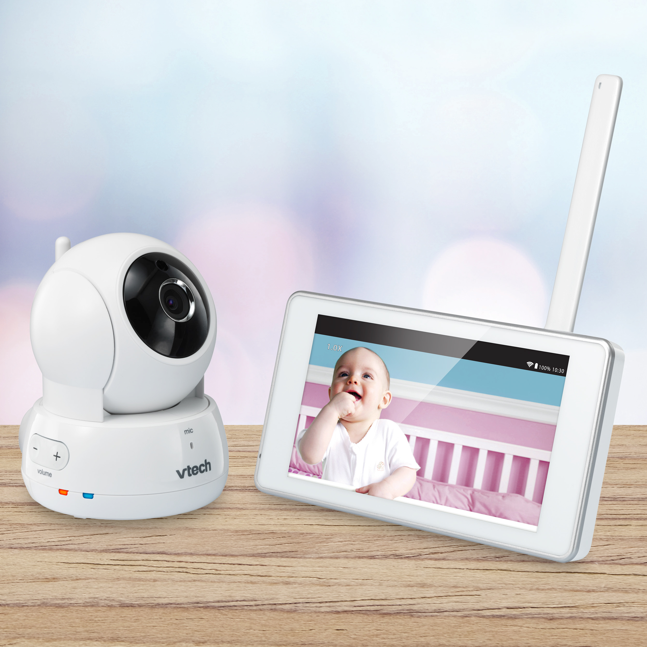 VTech VM991, Wi-Fi Video Baby Monitor, Remote Access, Pan & Tilt Camera