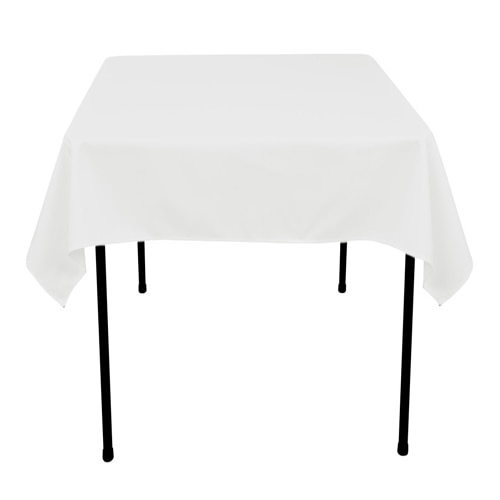 Superbe White   70 X 70 Square Tablecloths   ( 70 Inch X 70 Inch )