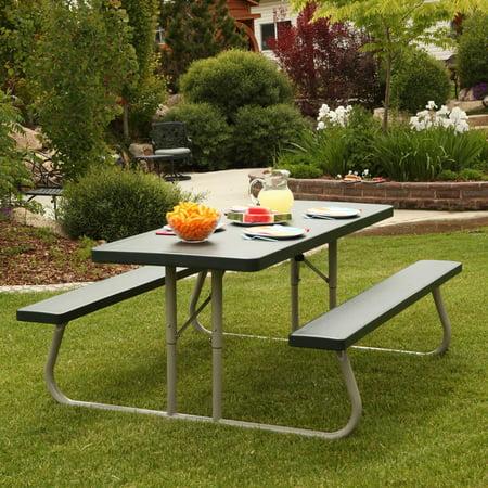 Sage Folding Picnic Table - Lifetime 6' Picnic Table, Green, 22123
