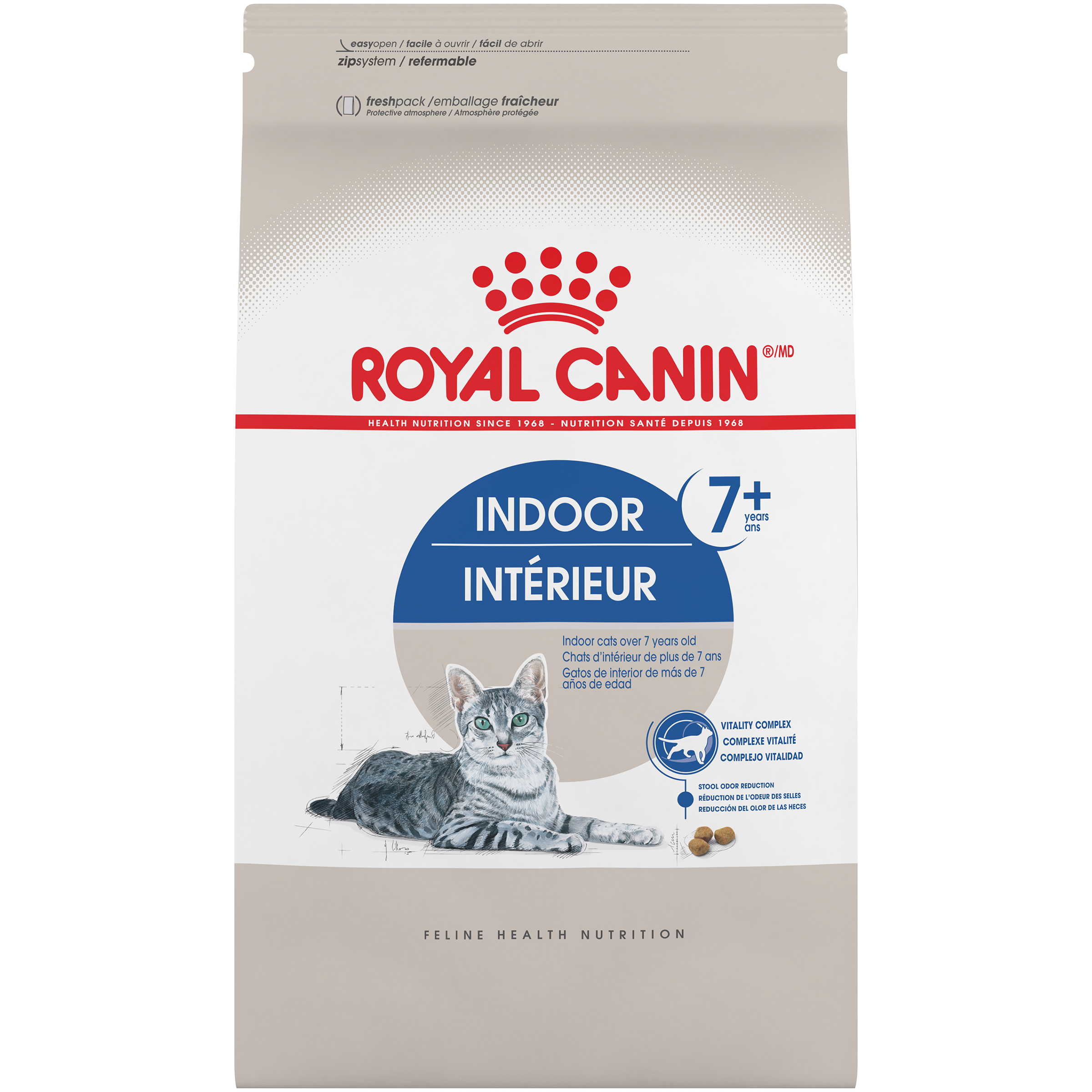Royal Canin Indoor Mature 27 Senior Dry Cat Food, 2.5 lb