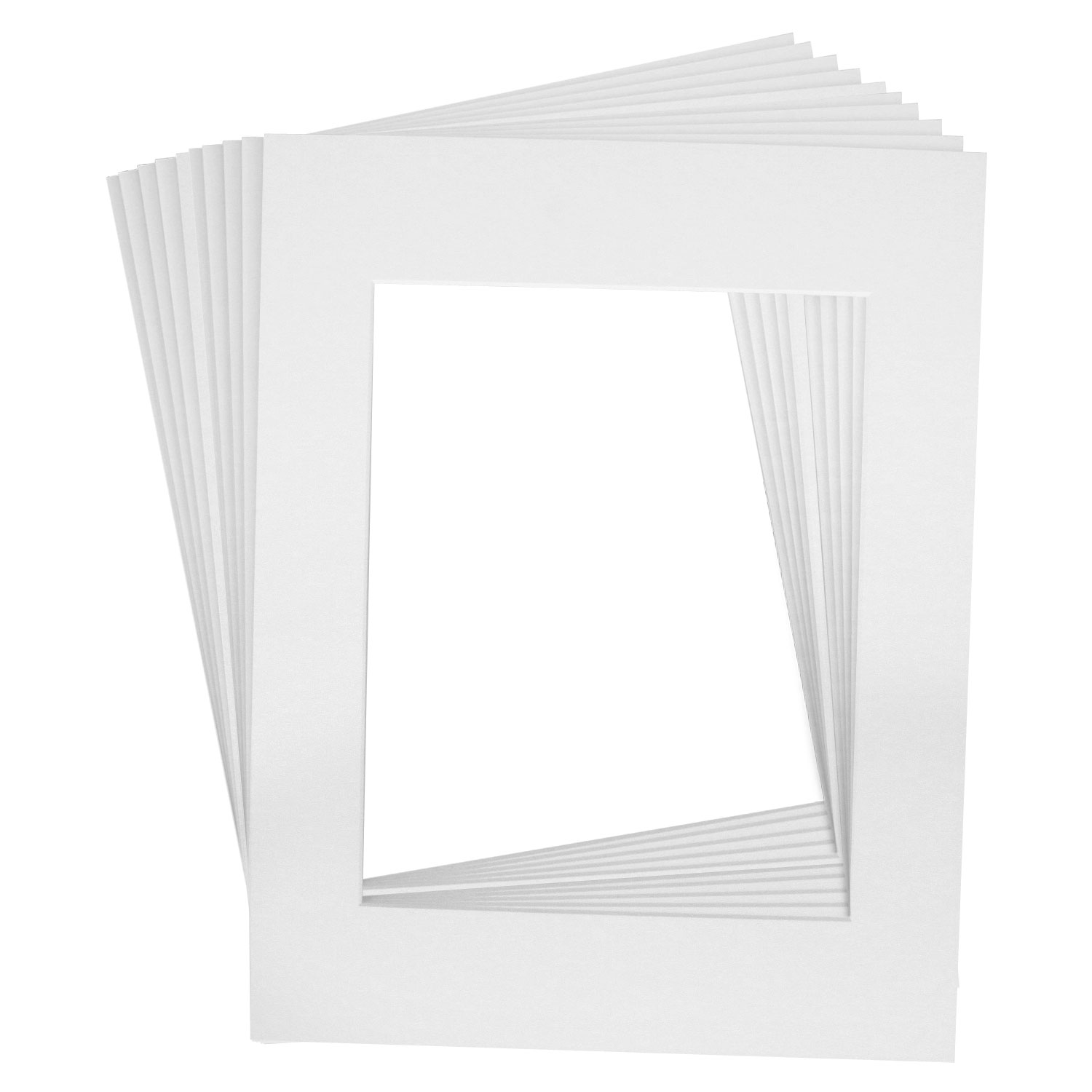 10 Art Mats Premier Quality Acid Free Pre Cut 11x14 White