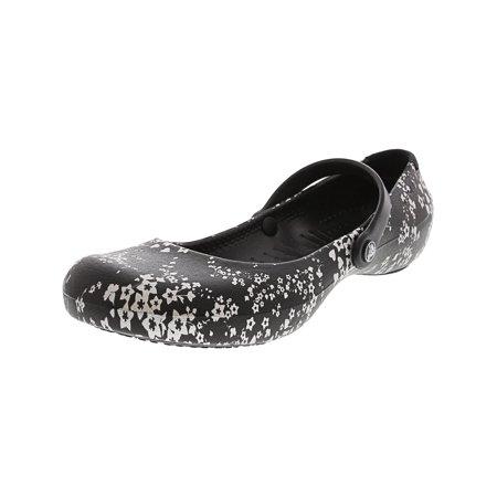 c1e43626c30b Crocs Women s Alice Work Flat Black   Silver Mary Jane - 5M - image 2 ...