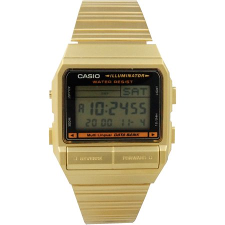 Casio DB380G-1DF Gold Multi-Lingual Casual Digital Watch w/ Databank Alarm Date