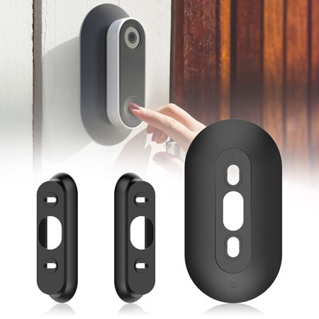 EEEKit Wall Plate for Nest Hello, Hard ABS Plastic Adjustable Wedge Bracket Cover for Nest Hello Doorbell, Mounting Wall Plate Wedge -