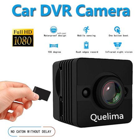 Quelima SQ12 Mini 1080P FHD DVR Camera 155 Degree FOV Loop-cycle Recording Night Vision ()