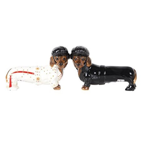 Adorable Elvis The King of Rock & Roll Doxies Salt and Pepper Shaker Set Cute Dachshund Wiener Dog Tabletop Decoration SP Set, Measures.., By Pacific Giftware Cute Salt And Pepper Shakers