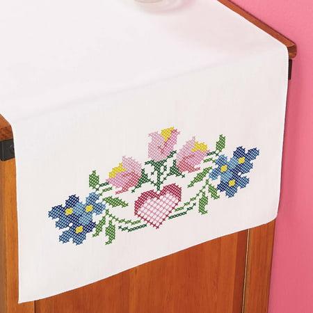 Herrschners® Heartsong Dresser Scarf Stamped Cross-Stitch