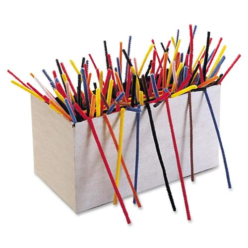 "ChenilleKraft Jumbo Chenille Pipe Cleaner Stems - 1000 Piece(s) - 12"" x 0.2"" - 1000 / Box - Assorted - Polyester"
