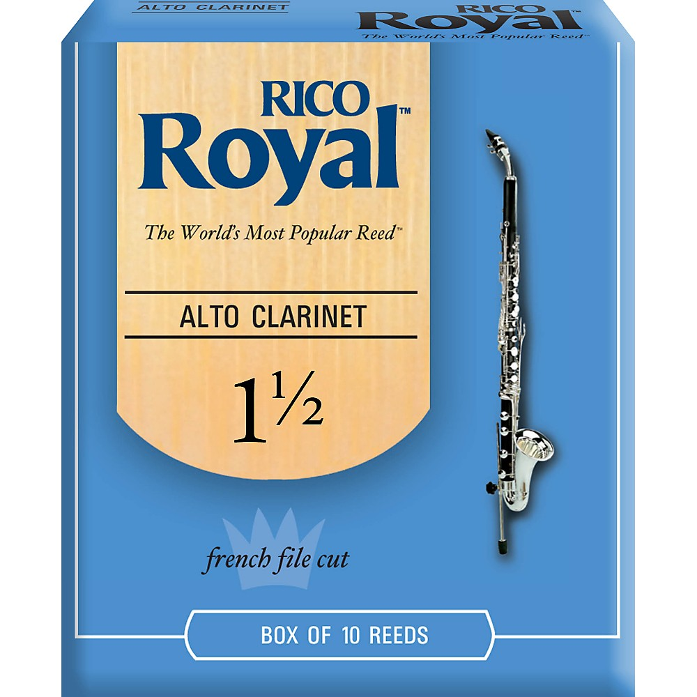 Rico Royal Alto Clarinet Reeds, Box of 10 Strength 1.5 by Rico Royal