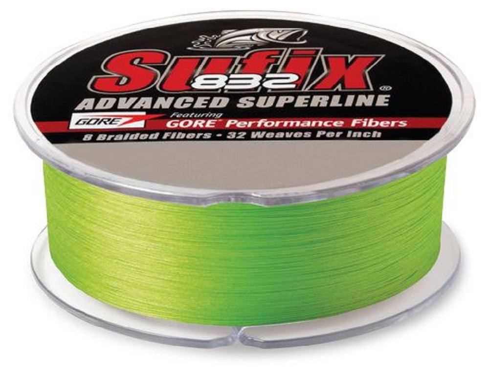 Sufix 832 Advanced Superline Braided Fishing Line 600 Yd 6lb Neon Lime Walmart Com