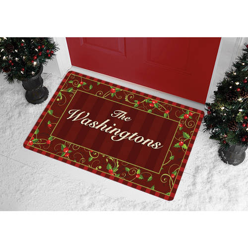 Personalized Holly Doormat