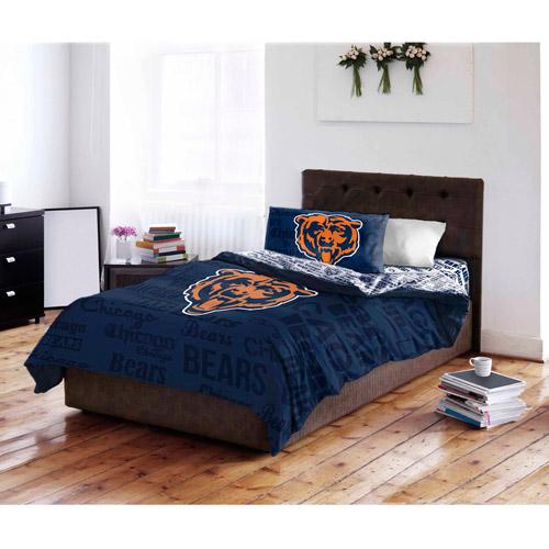 NFL Chicago Bears Bed in a Bag Complete Bedding Set