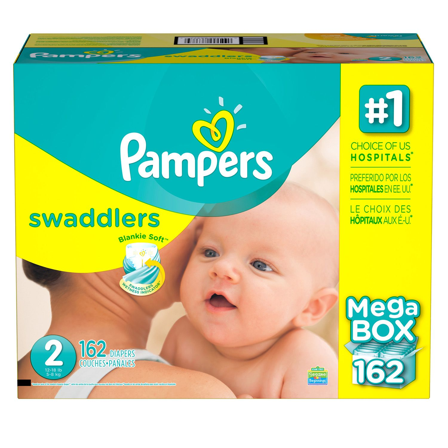 Procter & Gamble Pampers Swaddlers Diapers (Size 2, 162 ct.)