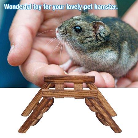 Greensen Wooden Ladder Funny Toys Training for Small Lovely Pet Hamster (Hamster Tubes)