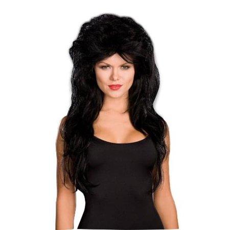 Sexy Black Rocker Costume Wig One Size - image 1 de 1
