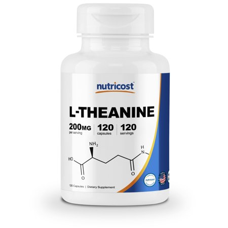 Nutricost L-Theanine 200mg; 120 Capsules - Double