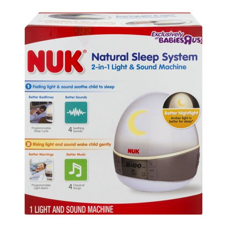 Nuk Natural Sleep System 2-in-1 Light & Sound Machine, 1.0 CT