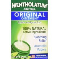 2 Pack Mentholatum Ointment/Topical Analgesic/Aromatic Vapors, 1 Ounce Each