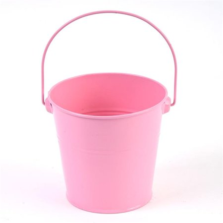 Small Tin Buckets (DDI 2330295 Small Tin Pink Bucket with Handle - Case of)