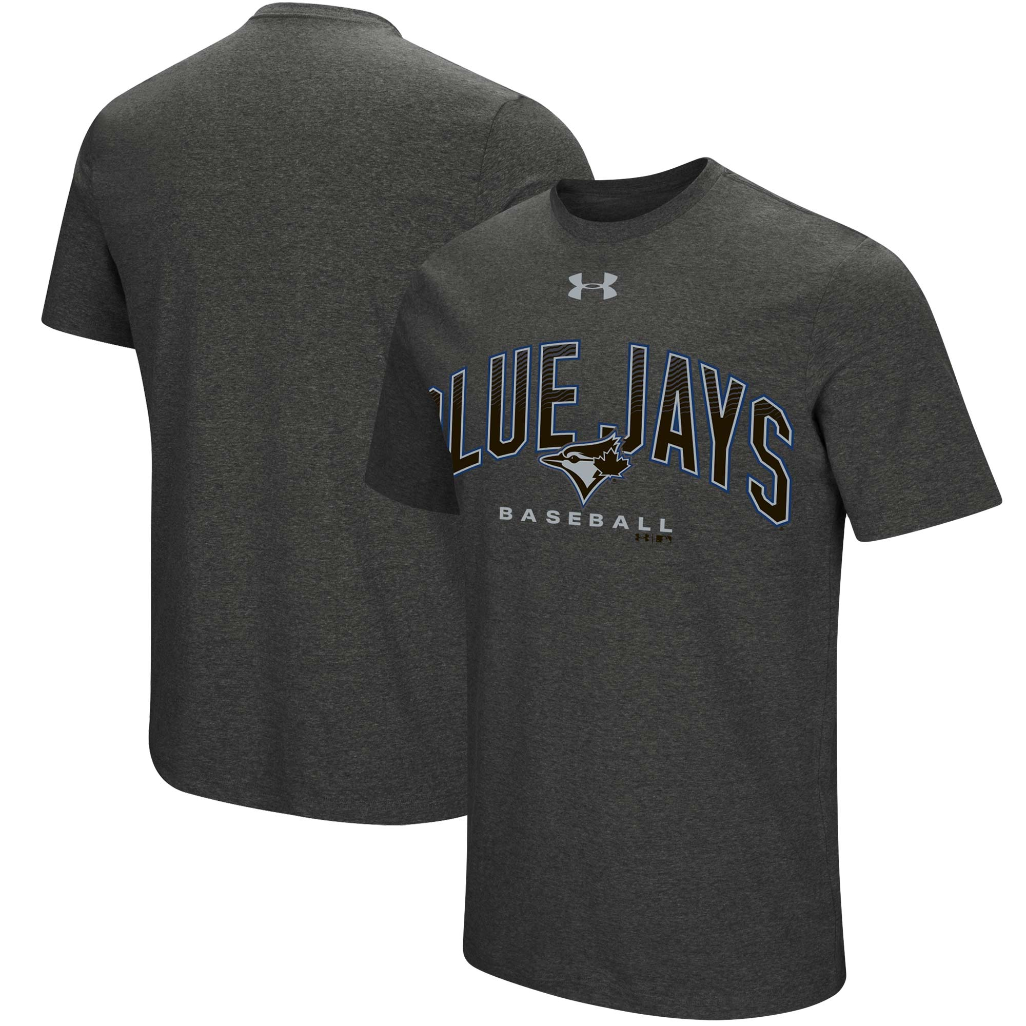 Toronto Blue Jays Under Armour Passion Reflective Arch Performance Tri-Blend T-Shirt - Heathered Charcoal