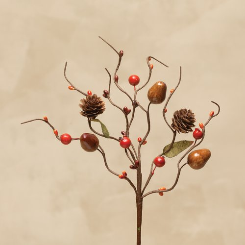 August Grove Acorn and Berry with Cones 12.5'' Desktop Foliage Tree (Set of 3)