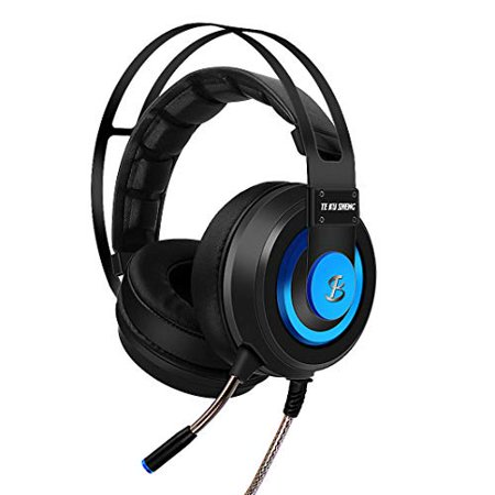 7.1 Best Surround Stereo Sound USB Computer Gaming Headset with Microphone, Noise-canceling Microphone, 3.5mm Soft Over Ear