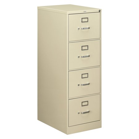 HON 4 Drawers Vertical Lockable Filing Cabinet, Putty
