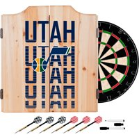 NBA Dart Cabinet Set with Darts and Board - City - Utah Jazz
