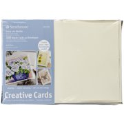 """Strathmore 105-630-1 Creative Cards and Envelopes 5"""" x 6.875"""", 100 Pack, Ivory/Deckle"""