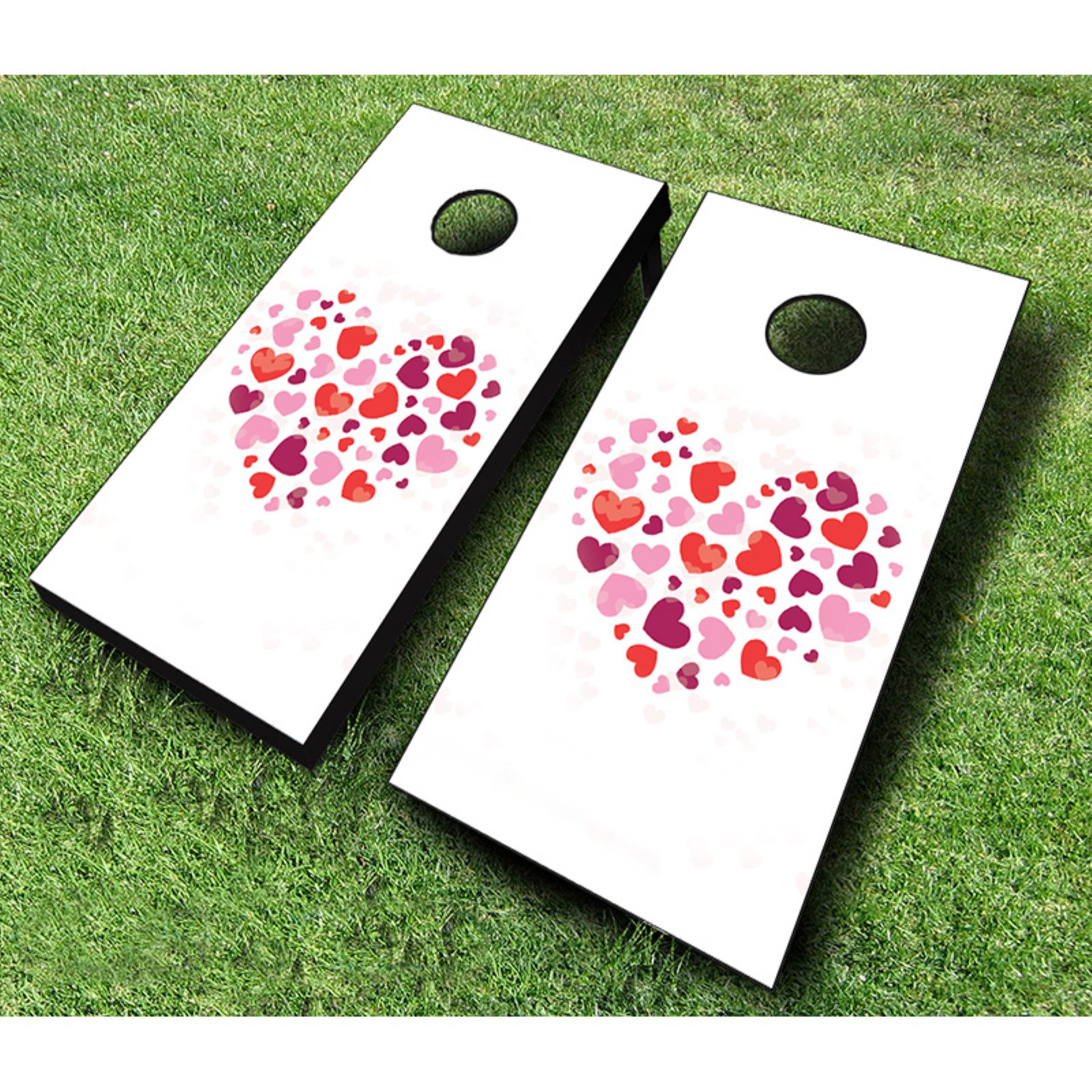 AJJ Cornhole Heart Heart Cornhole Set by