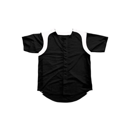 Image of 3N2 2500W-0106-XS Womens Faux Full-Button Black XSmall