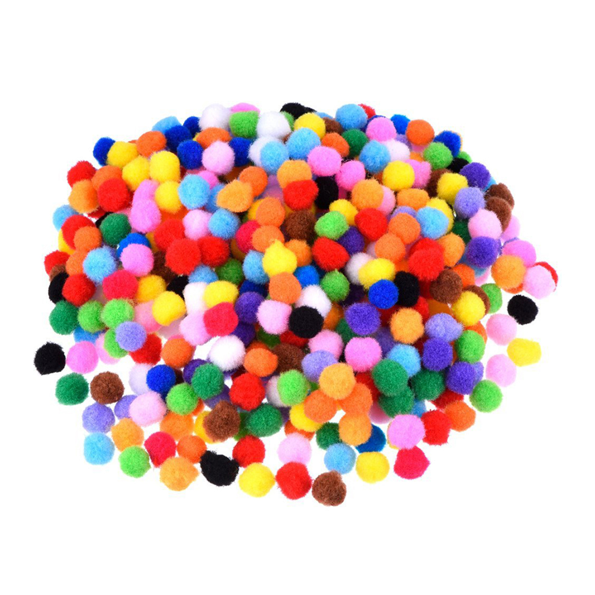 10cm Assorted Pom Poms for DIY Creative Crafts Decorations (Mixed Color), 1200pcs Pack