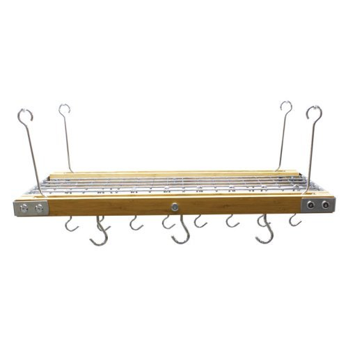 Range Kleen Hanging Rack, Bamboo and Stainless Steel