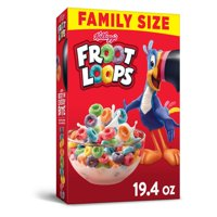 Kellogg's, Froot Loops, Breakfast Cereal, Original, Family Size, 19.4 Oz