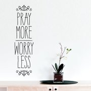 Belvedere Designs LLC Pray More Worry Less Wall Decal