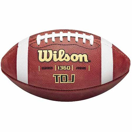 Wilson TD Series Traditional Leather Junior Game Football](Foot Balls)