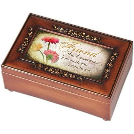cottage garden petite rose friend music box. Black Bedroom Furniture Sets. Home Design Ideas