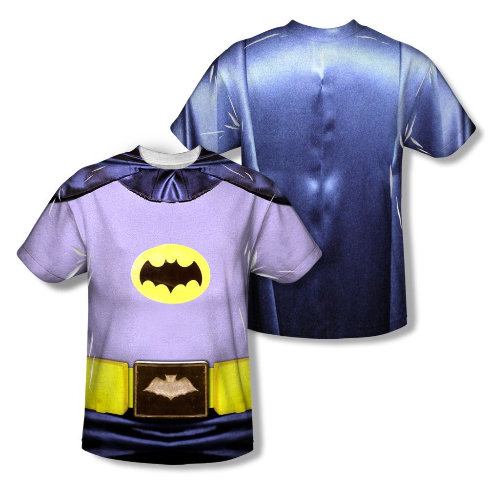 Classic TV Batman Costume Sublimated Men's Shirt by Trevco